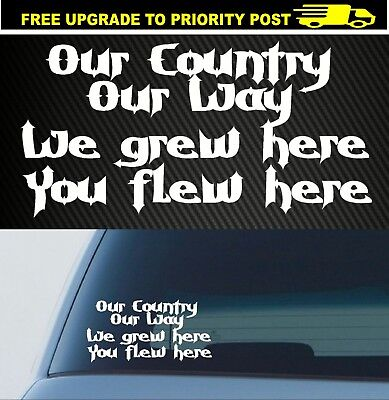 AU6.90 • Buy BNS DECAL 4X4 UTE TRUCK OUR COUNTRY OUR WAY Sticker