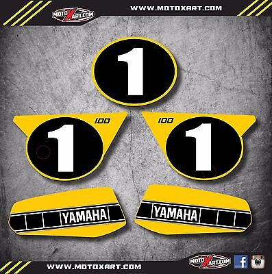 AU79.90 • Buy YZ 100 1978 1979 1980 1981 Graphics Decal Kit / Stickers