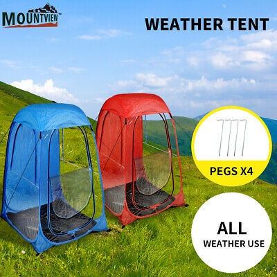 AU35.99 • Buy Mountview Pop Up Camping Tent Beach Portable Hiking Tents Weather Shelter Shade