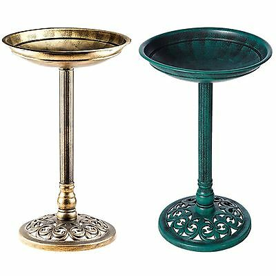 New Outdoor Traditional Bird Bath Pedestal Waterproof Table Garden Ornament Path • 13.95£