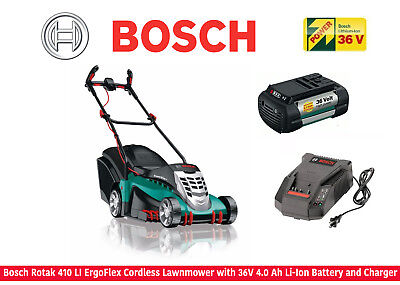 Bosch Rotak 410 LI ErgoFlex Cordless Lawnmower With 36V 4.0Ah Battery & Charger • 999.99£