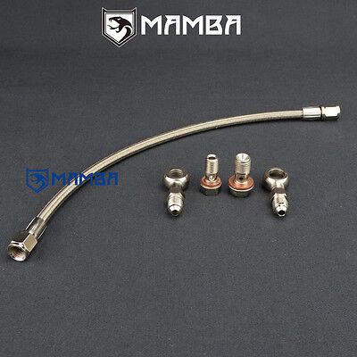 AU59.98 • Buy Turbo Oil Feed Line Mitsubishi Lancer GSR 4G93T 1.8T TD04L / Header To Turbo