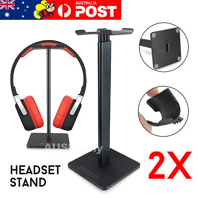 AU18.95 • Buy 2x Universal Gaming DJ Gamer Headphone Headset Hanger Bracket Holder Rack Stand