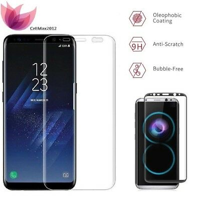 $ CDN9.68 • Buy Samsung Galaxy S9 Plus S8 Tempered Glass Screen Protector Curved Full Coverage