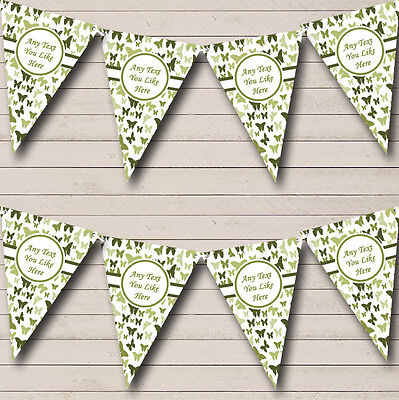 £6.99 • Buy Beautiful Olive Green Butterfly Children's Birthday Party Bunting Banner