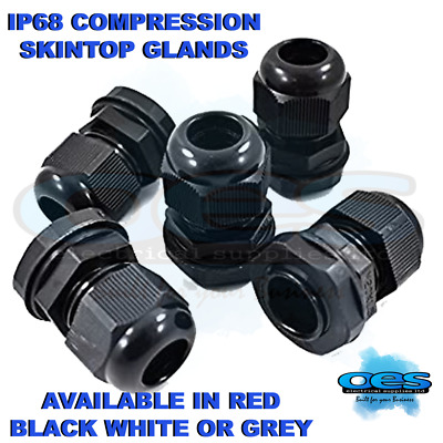 £5.60 • Buy 20mm Waterproof Ip68 Compression Skintop Cable Stuffing Glands C/w Locknut Nylon