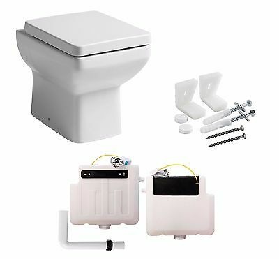 £149.95 • Buy Tavistock Q60 460mm Compact Short Projection Back To Wall Pan Toilet + Cistern