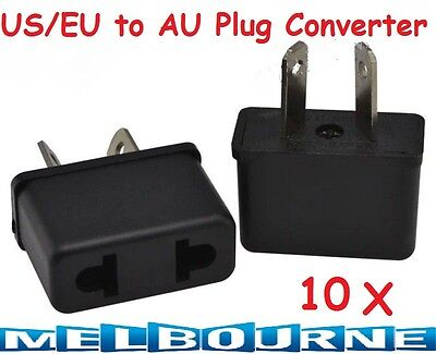 AU18.94 • Buy 10x USA US EU ADAPTER PLUG TO AU AUS AUSTRALIA TRAVEL POWER CONVERTOR PLUG Pcs #