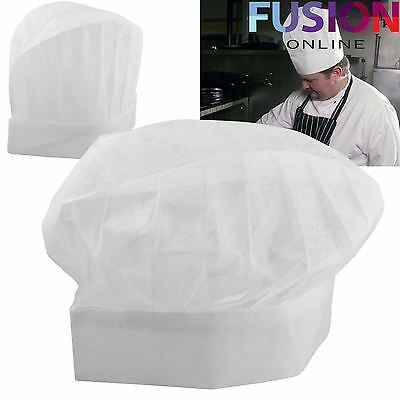 £6.79 • Buy Chefs White Paper Hats Disposable Professional Restaurant Hotel Chef Catering