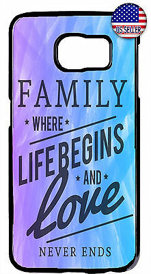 $ CDN18.43 • Buy Family & Love Life Case For Samsung Galaxy S10e S10+ S9 + Plus S8 Rubber Cover