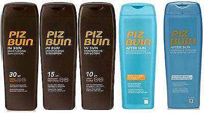 £17.95 • Buy Piz Buin IN SUN LOTION Suntan Lotion Or Aftersun 200ml Each (pack Of 2) Choose