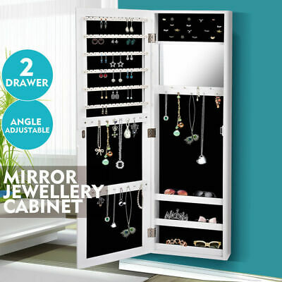 AU99.99 • Buy Levede Mirror Jewellery Cabinet Makeup Storage Jewelry Organiser Box Tall