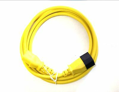 3 Metre Yellow. Iec Power Extension Cable Lead. Male C13 To Female C14.  • 7.29£