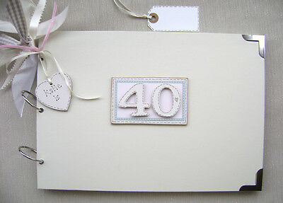 £17.70 • Buy Personalised 40th Birthday Pink A4 Size.photo Album/scrapbook/memory/guest Book.