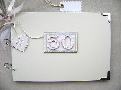 Personalised 50th Birthday Pink A4 Size.photo Album/scrapbook/memory/guest Book. • 16.99£