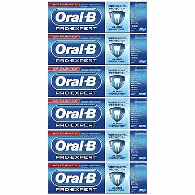 View Details 6 Oral-B Pro Expert Professional Protection Toothpaste Whitening Clean Mint 75ml • 14.57£