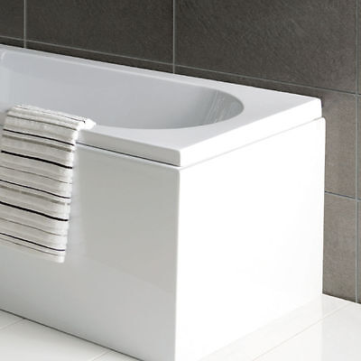 L Shape / P Shape Shower Bath End Panel 700mm 70cm White Acrylic 520 High  • 39.95£