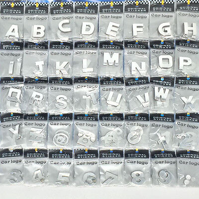 3D Chrome Self-adhesive Letter Number Badge Stickers For Car Home & Auto Signage • 0.99£
