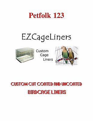 $67.95 • Buy Bird Cage Liners EZ Cageliners Plain And Coated Custom Cut To Order 150 Sheets