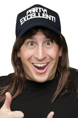 $13.47 • Buy Excellent Wayne's World Costume Wig And Hat Costume Accessory