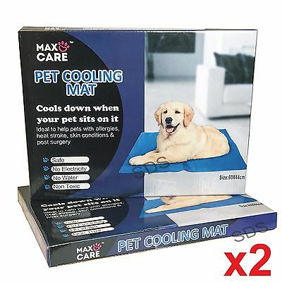 £12.99 • Buy 2x PET COOLING GEL MAT BED DOG CAT SUMMER HEAT RELIEF NON TOXIC CUSHION PAD