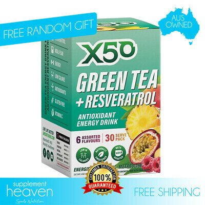 AU34.95 • Buy X50 Green Tea Assorted Pack 30 Serve Weight Loss + Free Shaker Detox Tribecca