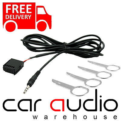 FORD Focus Mk2 2005 6000CD Car MP3 IPod IPhone Aux In Input Cable Adaptor & Keys • 8.79£