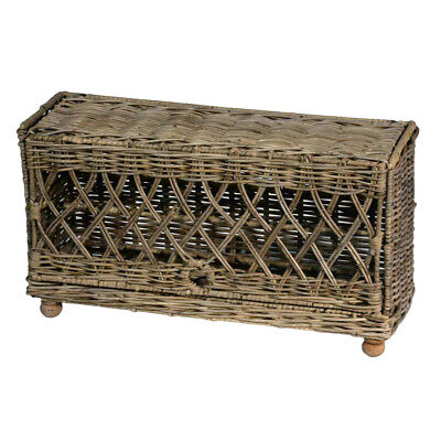 Grey Wicker Egg Storage Display Basket For Up To 24 Eggs • 49£