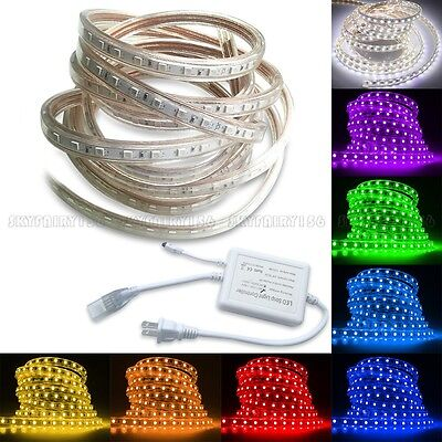 $14.98 • Buy 5M-30M 5050 SMD LED Strip Rope Tape Light Xmas Lamp Home Outdoor Waterproof 110V