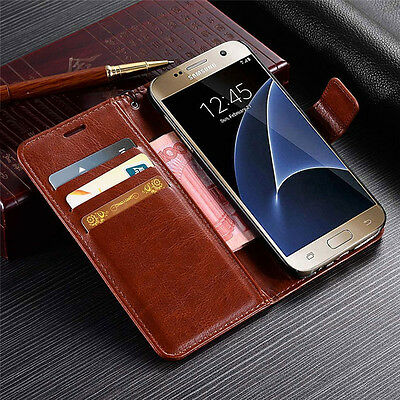 $ CDN6.24 • Buy Luxury Magnetic Card Pouch Wallet Flip Stand Leather Case Cover Skin For Samsung