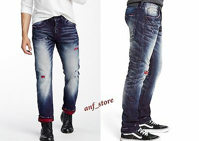 NWT PRPS Goods JAPAN Demon Slim Men Jeans 34 X 32 Selvedge Distress FADED $425 • 121.59£