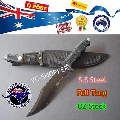 AU26.80 • Buy Hunting Knife - Razor Sharp Camping Military Outdoor Survival SS Steel AU Stock