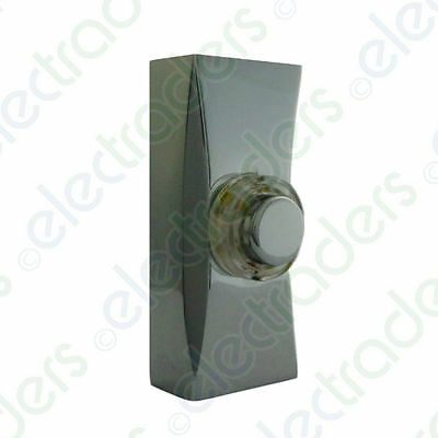 Deta C3506CH Wired Door Bell Push (Non Illuminated) - Polished Chrome • 12.45£