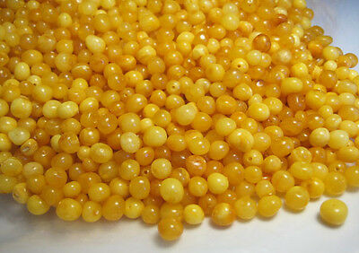 £11.95 • Buy Natural Baroque Polished Baltic Holed Amber Loose 50 Beads Egg Yolk Butterscotch