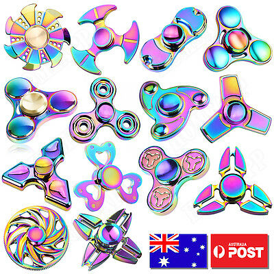 AU8.23 • Buy Gyro Finger Spinner Fidget Toys Alloy Fidget Hand Spinners For Kids Autism Gifts