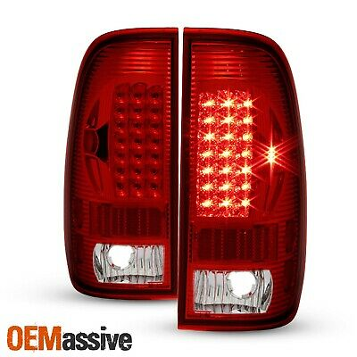 $98.99 • Buy Fits 97-03 F150 F250 Pickup 99-07 Ford Superduty Red Clear LED Tail Lights Lamps