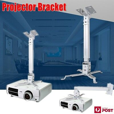 AU22.80 • Buy DLP/LCD Projector Bracket Ceiling Mount Extendable Fr Any Home Theatrer White XA