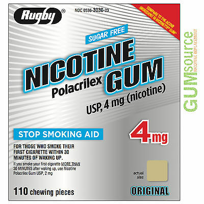 $ CDN101.96 • Buy Rugby Nicotine Gum 4mg Uncoated Original  3 Boxes 330 Pieces