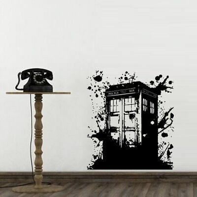 Wall Decal Doctor Who Tardis Sticker Decor Police Box Gift Dorm Bedroom M1623 • 22.37£