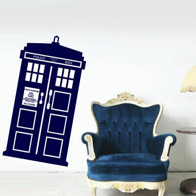 Wall Decal Doctor Who Tardis Quote Time Travels Police Box Dorm Bedroom M1625 • 22.37£