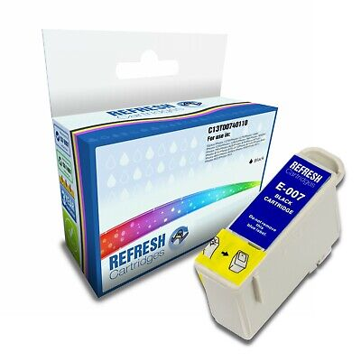 Refresh Cartridges Black T007 Ink Compatible With Epson Printers • 3.17£