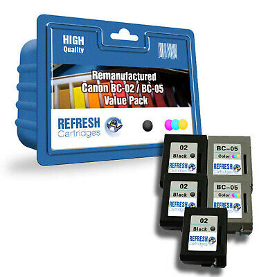 £48.57 • Buy Refresh Cartridges Value Pack Bc-02 / Bc-05 Ink Compatible With Canon Printers