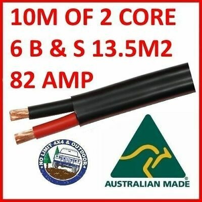 AU73 • Buy 10 METRES 6B&S TWIN CORE CABLE DUAL BATTERY SYSTEM 14mm2 6 B&S 10M 82 AMP 82A