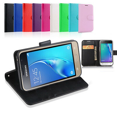 AU10.99 • Buy Leather Wallet Case Cover For Samsung Galaxy J3 2016 + Tempered Screen Protector