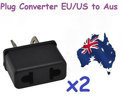 AU9.95 • Buy 2 Pc X USA US EU ADAPTER PLUG TO AU AUS AUSTRALIA TRAVEL CONVERTER PLUG PLASTIC