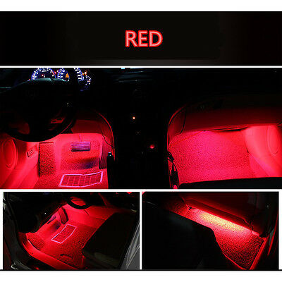 $7.04 • Buy 4x 9 LED Red Charge Interior Accessories Foot Car Decorative Light Lamps LED RED