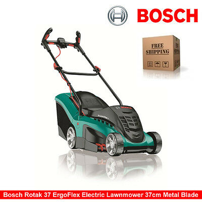 Bosch Rotak 37 ErgoFlex Electric Rotary Lawnmower 37cm Metal Blade 1400W • 599.99£
