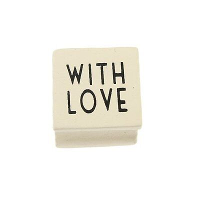 £3.35 • Buy East Of India Wooden Rubber Stamp - With Love