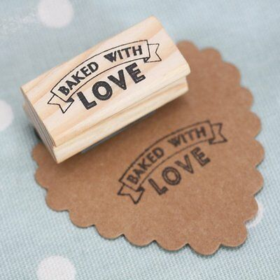 £8.07 • Buy East Of India Rubber Stamp - BAKED WITH LOVE