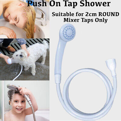 £10.77 • Buy Push On Shower Hose And Head For Single Mixer Tap Bath Tap Kitchen Tap Spray